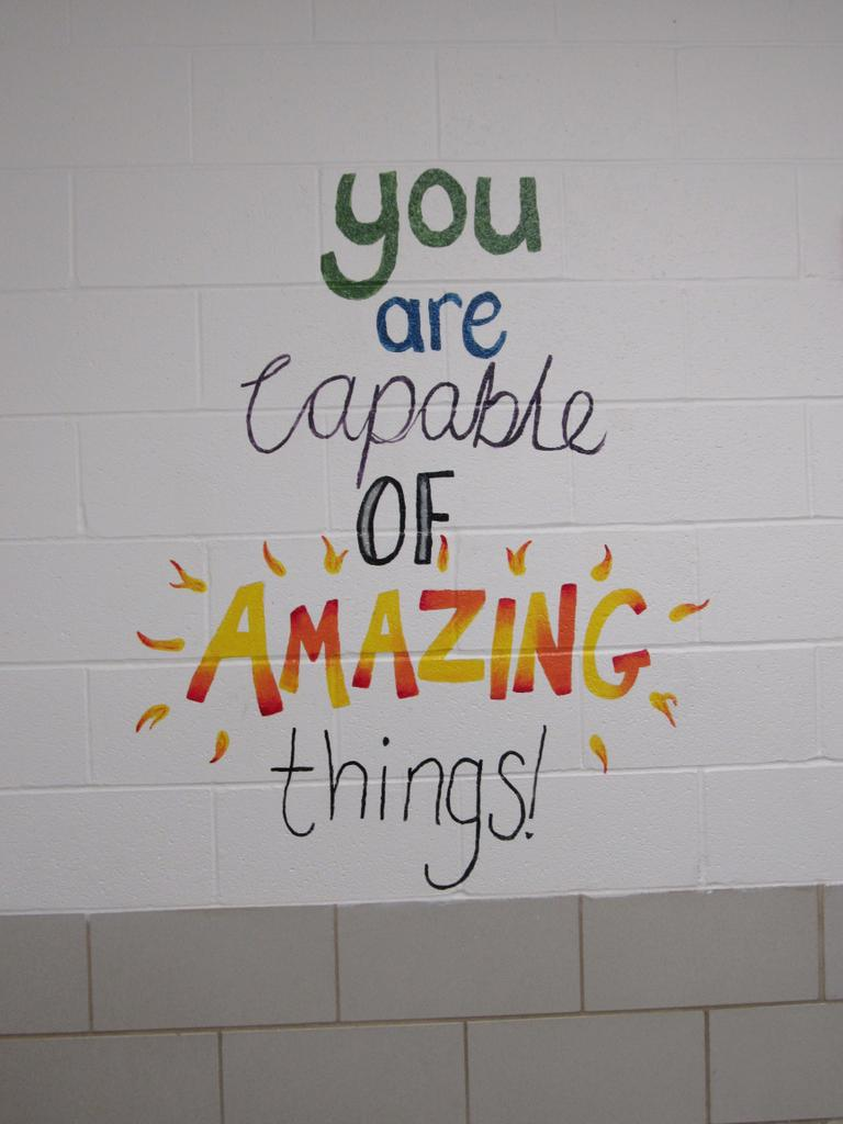 Middle School Teachers Are Painting Positive Messages