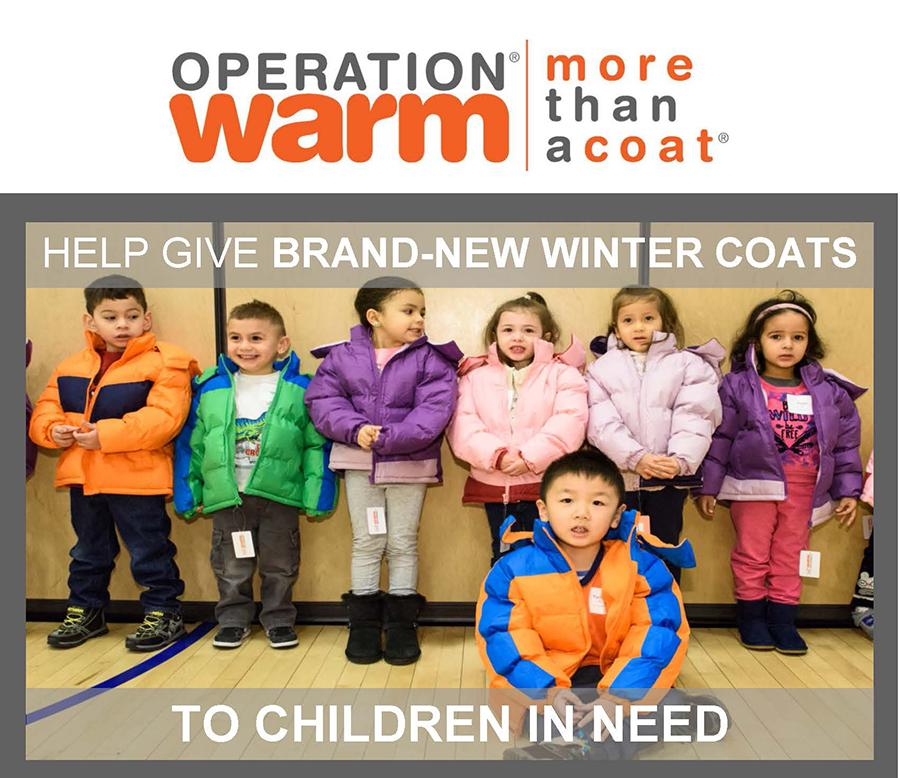 Teaming Up to Provide New Coats for Children in Need