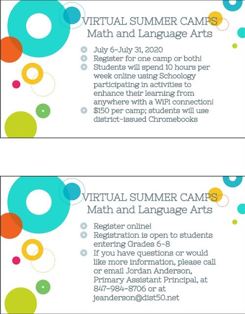 Virtual Camps Flyer