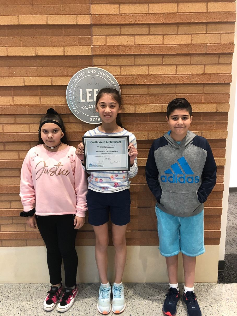 students accept attendance award