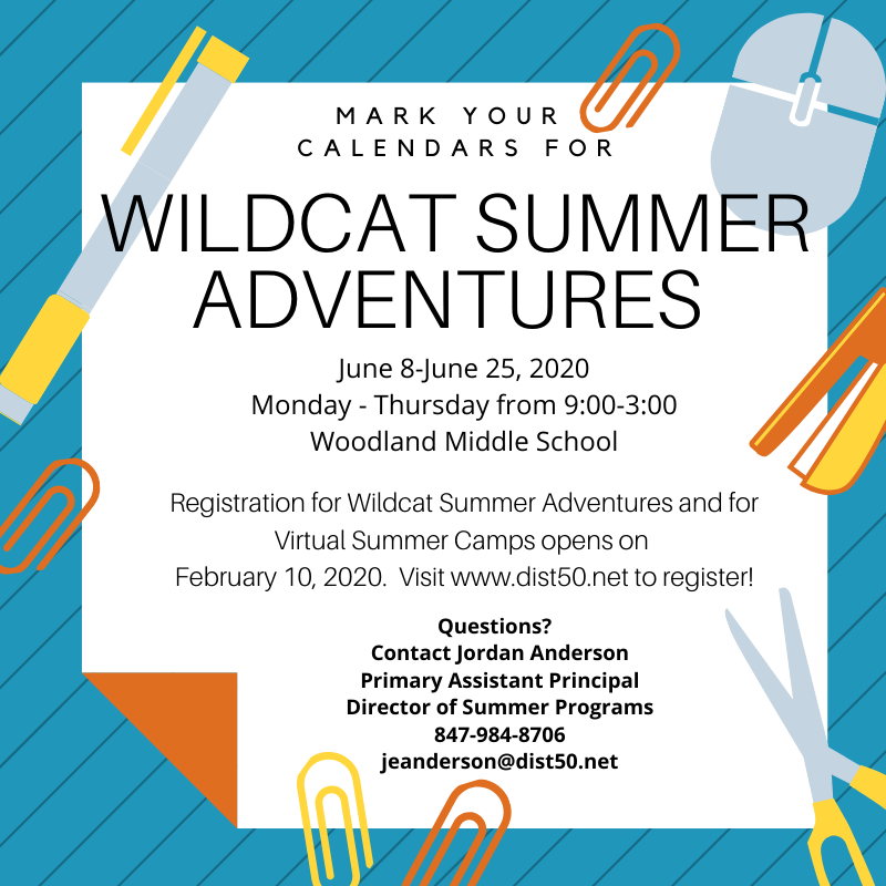 Wildcat Summer Adventures flyer